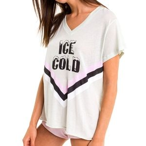 NWT Wildfox Romeo V-Neck Tee- Size Medium